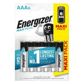 Батарейка алкалиновая Energizer Max Plus AAA, 6 шт.