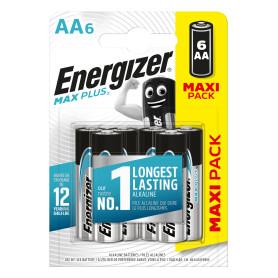 Батарейка алкалиновая Energizer Max Plus AA, 6 шт.