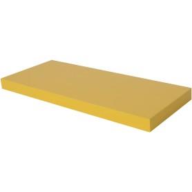 Полка мебельная прямая 600x230x38 мм, МДФ, цвет жёлтый