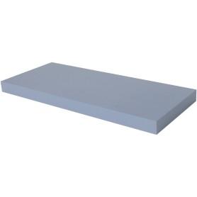Полка мебельная прямая 600x230x38 мм, МДФ, цвет голубой