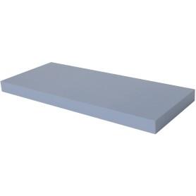 Полка мебельная прямая 800x230x38 мм, МДФ, цвет голубой