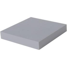 Полка мебельная прямая 230x230x38 мм, МДФ, цвет серый