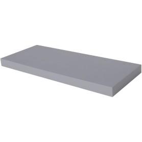 Полка мебельная прямая 600x230x38 мм, МДФ, цвет серый