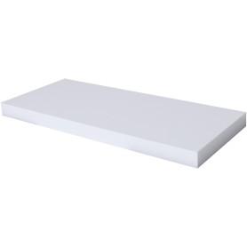 Полка мебельная прямая 800x230x38 мм, МДФ, цвет белый