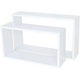 Полка прямоугольная, 45х27 см/40х22 см, цвет белый, 2 шт.