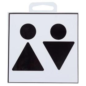 """Наклейка маленькая 42 """"Туалет Общий"""""""