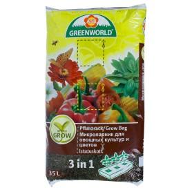 Грунт микропарник для овощных культур и цветов, 35 л