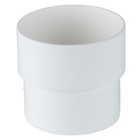 Соединитель желоба Dacha 80 мм белый