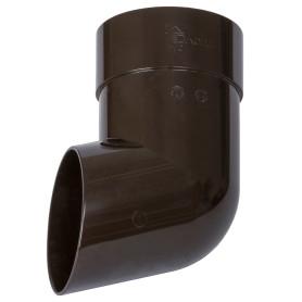 Слив трубы Dacha 80 мм коричневый