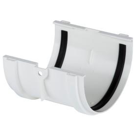 Соединитель желобов Dacha 120 мм белый