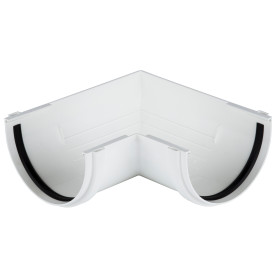 Угол желоба Dacha 120 мм 90 градусов белый