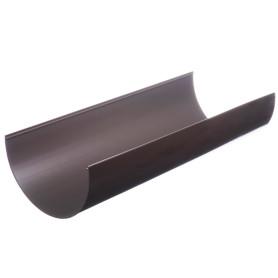 Желоб водосточный Dacha 120 мм 2 м коричневый