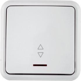 Выключатель проходной накладной Lexman First 1 клавиша с подсветкой, цвет белый
