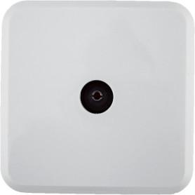 ТВ-розетка проходная накладная Lexman First шлейф, цвет белый