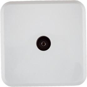 ТВ-розетка оконечная накладная Lexman First шлейф,цвет белый
