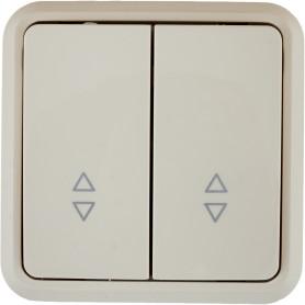 Выключатель проходной накладной Lexman First 2 клавиши, цвет бежевый
