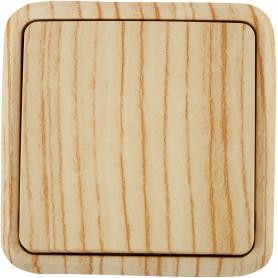 Выключатель накладной Lexman First 1 клавиша, цвет дуб белёный матовый