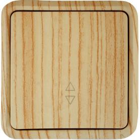 Выключатель проходной накладной Lexman First 1 клавиша, цвет дуб белёный матовый