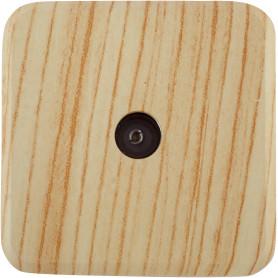 ТВ-розетка проходная накладная Lexman First шлейф, цвет дуб белёный