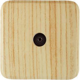 ТВ-розетка оконечная накладная Lexman First шлейф,цвет дуб беленый