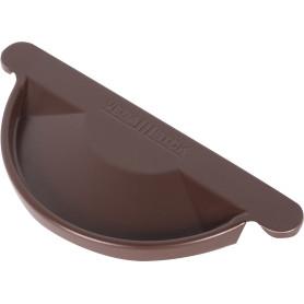 Заглушка полукруглого желоба D125 мм цвет коричневый