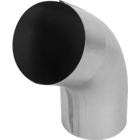 Колено трубы 55° D90 мм оцинкованное