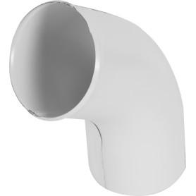 Колено сливное D90 мм цвет белый