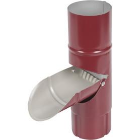 Отвод для сбора воды D90 мм цвет вишня