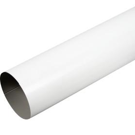 Труба круглая D90 мм 1000 мм цвет белый