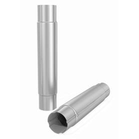 Труба соединительная D90 1000 мм цвет белый