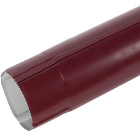 Труба круглая D90 мм 2000 мм цвет вишня