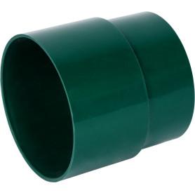 Муфта для водосточной трубы 80 мм цвет зелёный