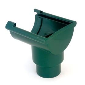 Воронка желоба торцевая 80/100 мм цвет зелёный