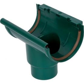 Воронка желоба центральная 80/100 цвет зелёный