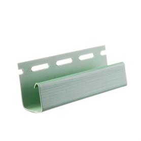J-профиль для сайдинга FINEBER 3000 мм цвет зеленый