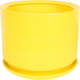 Горшок цветочный Орфей ø29 h29 см v12 л керамика жёлтый