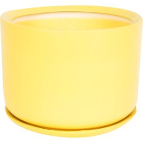 Горшок цветочный «Орфей» D24, 6л., керамика, Жёлтый / золотой
