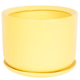Горшок цветочный Орфей ø19 h19 см v3 л керамика жёлтый
