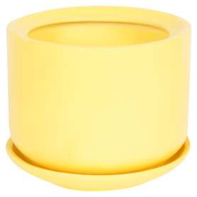 Горшок цветочный «Орфей» D15, 1, 1л., керамика, Жёлтый / золотой