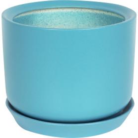 Горшок цветочный «Орфей» D19, 5, 5л., керамика, Зеленый, Синий