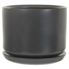 Горшок цветочный Орфей ø29 h29 см v12 л керамика тёмно-серый