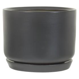 Горшок цветочный «Орфей» D24, 6л., керамика, Серый / Серебристый