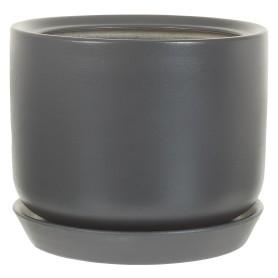 Горшок цветочный Орфей ø19 h19 см v3 л керамика тёмно-серый