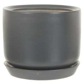 Горшок цветочный Орфей ø15 h15 см v1.2 л керамика тёмно-серый