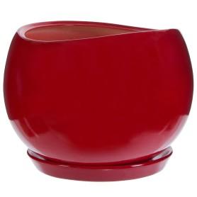 Горшок цветочный Адель ø28 h24.5 см v15 л керамика красный