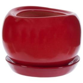 Горшок цветочный «Адель» D13, 1л., керамика, Красный