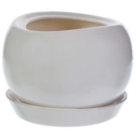 Горшок цветочный Адель ø28 h24.5 см v15 л керамика белый