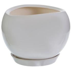 Горшок цветочный Адель ø20 h18 см v3.5 л керамика белый