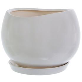 Горшок цветочный «Адель» D13, 1, 2л., керамика, Белый