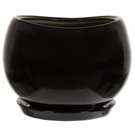 Горшок цветочный Адель ø28 h24.5 см v15 л керамика чёрный